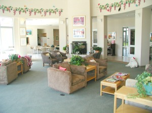 Inside the living room at RMHCCV