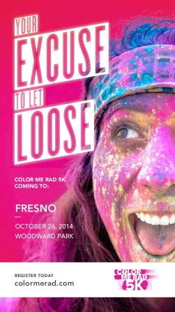 Fresno Color Me Rad Race October